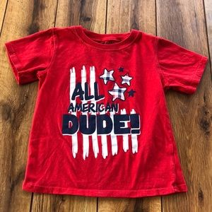 4T Patriotic Red White Blue T-Shirt